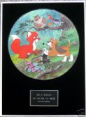 "WALT DISNEY -Framed 12"" Picture Disc- FOX AND THE HOUND"